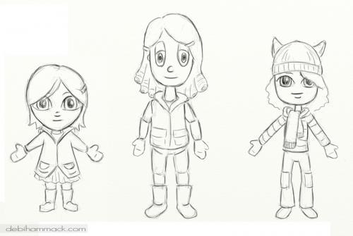 Hammack girl sketches